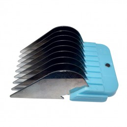 STAINLESS STEEL COMB GUIDES - USABLE WITH 9-2 mm AND 10-1,5 mm BLADE - 25 mm -T025-25 -AGC CREATION