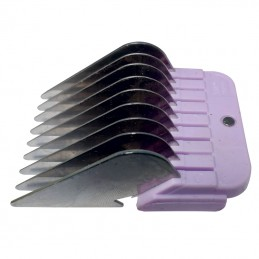 STAINLESS STEEL COMB GUIDES - USABLE WITH 9-2 mm AND 10-1,5 mm BLADE - 19 mm -T025-19 -AGC CREATION