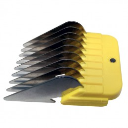 STAINLESS STEEL COMB GUIDES - USABLE WITH 9-2 mm AND 10-1,5 mm BLADE - 16mm -T025-16-AGC-CREATION