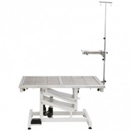 Electric operating table 120cm, top in stainless steel with grid - foot control -MOT120B-AGC-CREATION