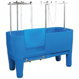 Polyethylene blue bath on adjustable feet -MPB10-AGC-CREATION