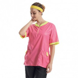 TWO-TONED OUTIFT PINK - YELLOW -GA-030504-AGC-CREATION