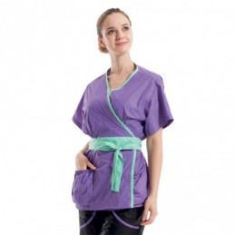 TWO-TONED OUTFIT PURPLE - GREEN -GA-040302-AGC-CREATION