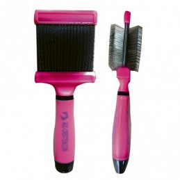 Flexible 2-sided sliker brush 66mm for grooming dogs and cats -P033-AGC-CREATION