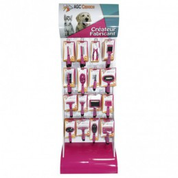 Special combs and brushes display, sold empty -P040-AGC-CREATION