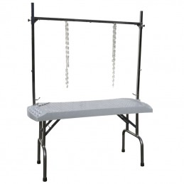 FOLDING TABLE EVOLUTECH130 - STAINLESS STEEL STAND - 85CM HEIGHT -M530 -AGC CREATION