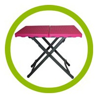 Light folding tables
