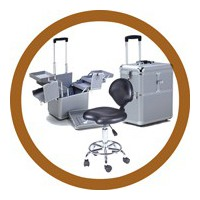 Groomers suitcases and seats