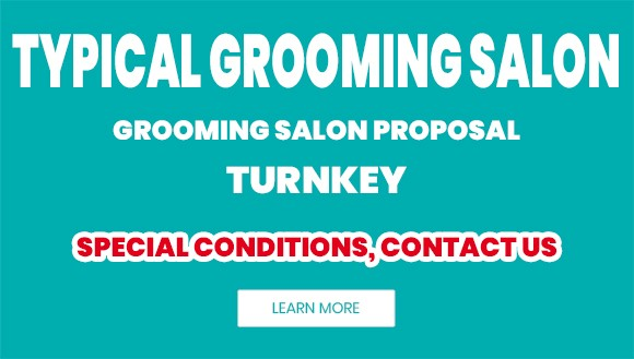 Typical grooming salon